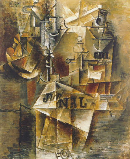 Pablo Picasso. Still Life with newspaper, 1912
