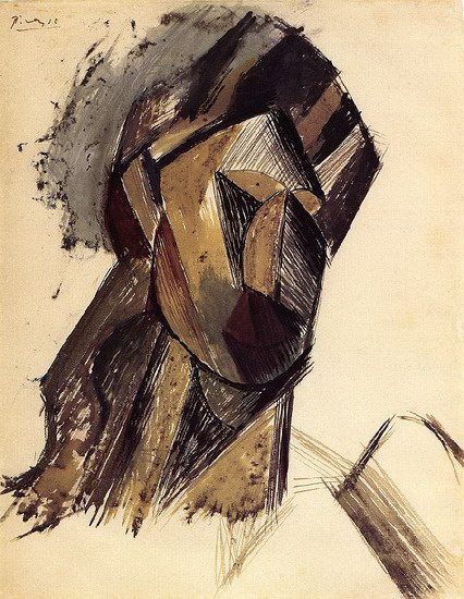 Pablo Picasso. Head of a Woman, 1909
