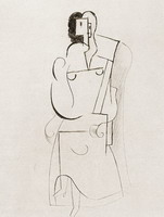 Pablo Picasso. Woman sitting in a chair [The ice above the fireplace]