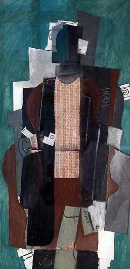 Pablo Picasso. Man with pipe, 1911