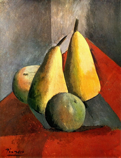 Pablo Picasso. Pears and apples, 1908