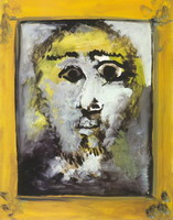 Pablo Picasso. Man head in a frame