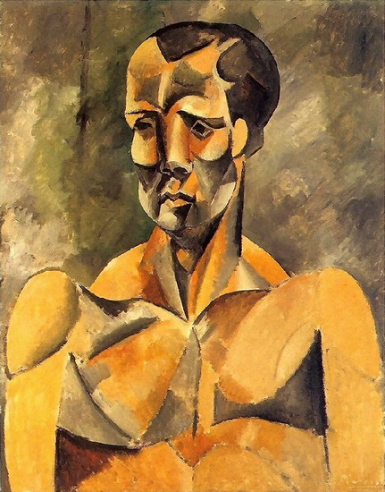 Pablo Picasso. Bust of man, 1909