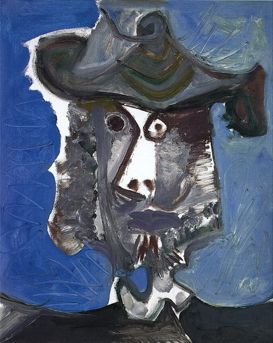 Pablo Picasso. Head musketeer, 1972