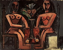 Pablo Picasso. Two women sitting