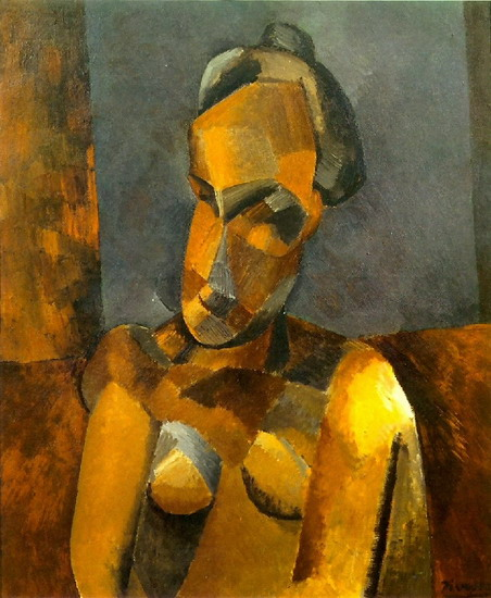 Pablo Picasso. Female bust, 1909