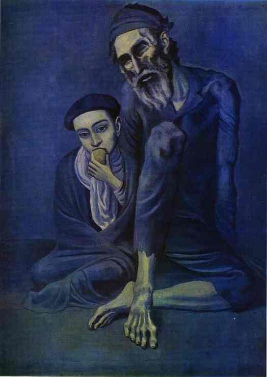 Pablo Picasso. Old Jew and a Boy, 1903