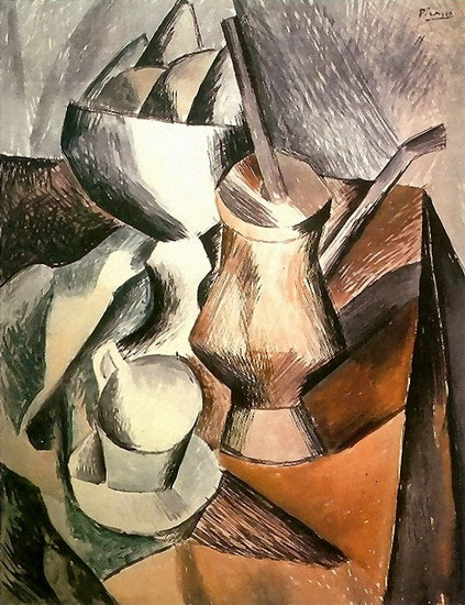 Pablo Picasso. Still Life with chocolatiere, 1909