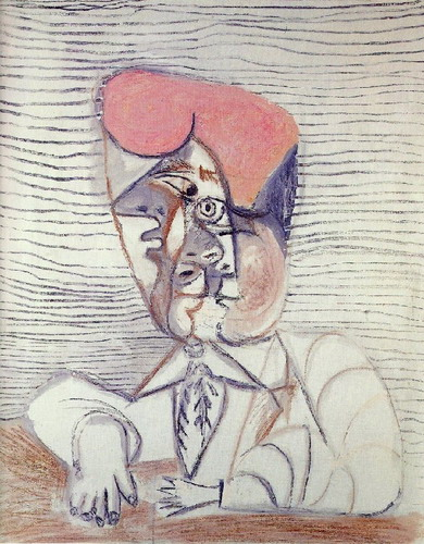 Pablo Picasso. Bust of man, 1972