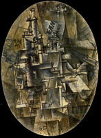 Pablo Picasso. Bottle, glass, fork