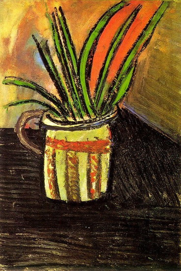 Pablo Picasso. Exotic flowers (bouquet in a vase), 1907