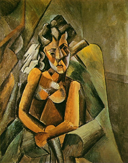 Pablo Picasso. Seated Woman, 1909