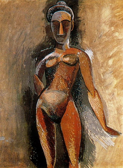 Pablo Picasso. Standing Female Nude, 1907