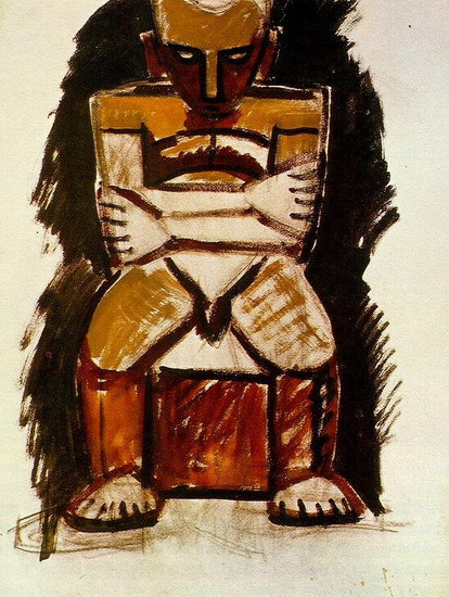 Pablo Picasso. Seated Man, 1918