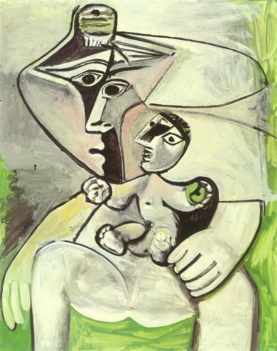 Pablo Picasso - Maternity apple [Woman and child], 1971