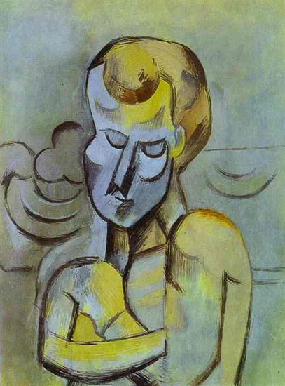 Pablo Picasso. Naked man with arms crossed, 1909