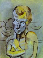 Pablo Picasso. Naked man with arms crossed