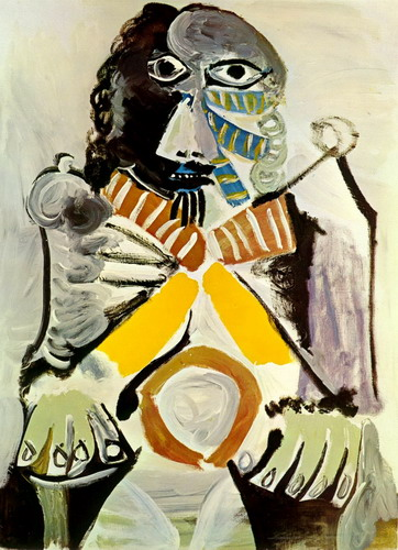 Pablo Picasso. Man sitting in an armchair, 1969