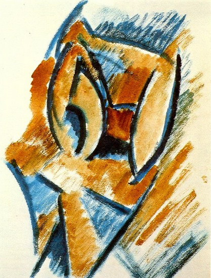 Pablo Picasso. Female bust, 1907