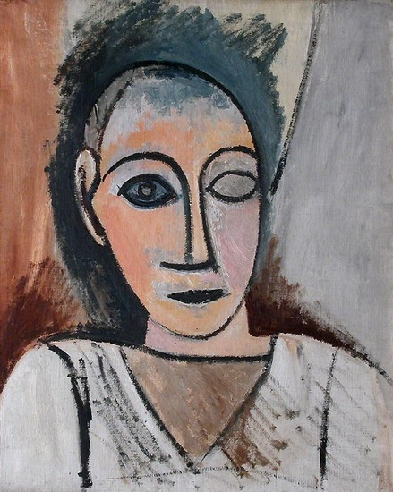 Pablo Picasso. Bust of man, 1907