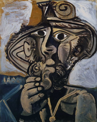 Pablo Picasso. Man with pipe (for Jacqueline), 1971