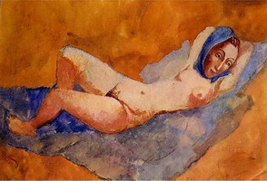 Pablo Picasso. Reclining Nude (Fernande), 1906