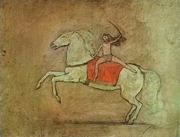 Equestrienne riding