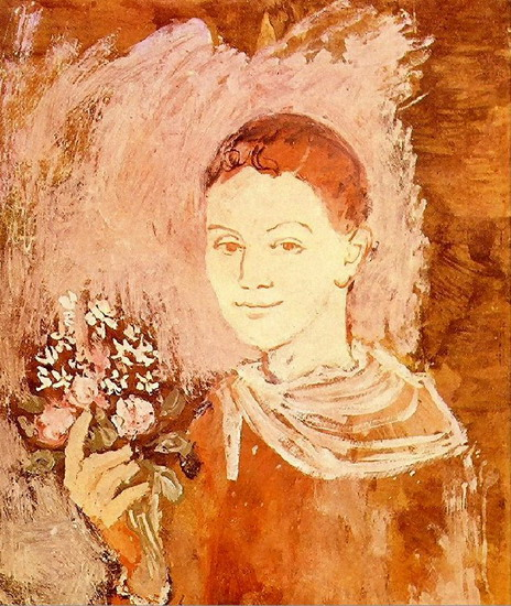 Pablo Picasso. Boy with a bouquet of flowers, 1905