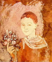 Pablo Picasso. Boy with a bouquet of flowers