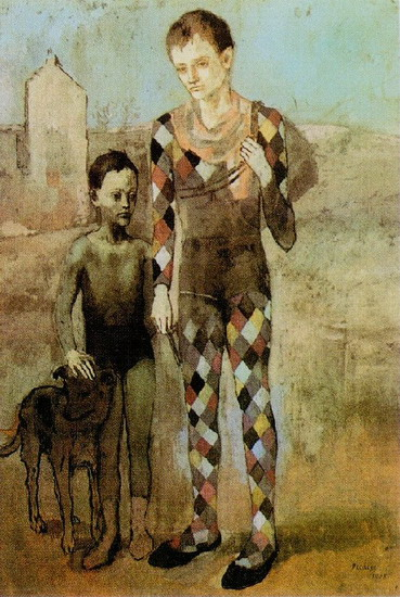 Pablo Picasso. Two acrobats with a dog, 1905