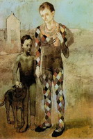 Pablo Picasso. Two acrobats with a dog