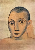 Pablo Picasso. self-portrait