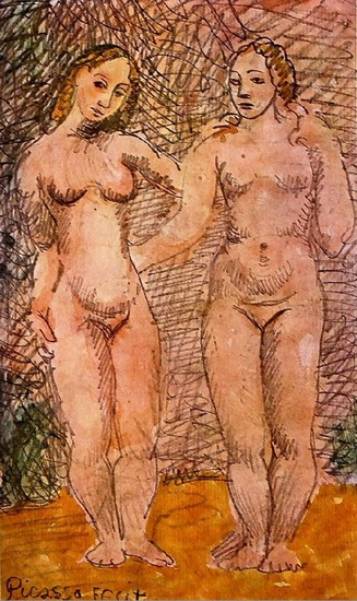 Pablo Picasso. Two naked women, 1920