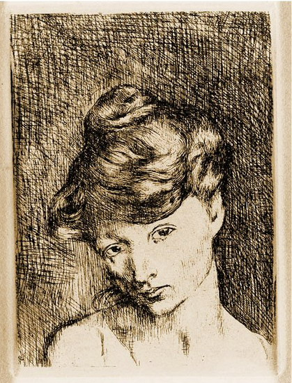 Pablo Picasso. Head of a Woman: Madeleine, 1905