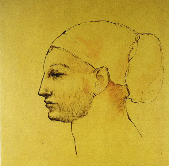 Pablo Picasso. Woman's head in a bun - Profile, 1906