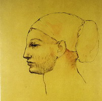 Pablo Picasso. Woman's head in a bun - Profile