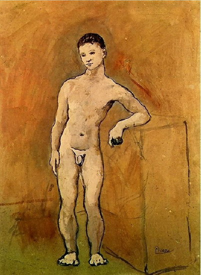 Pablo Picasso. garcon naked, 1906