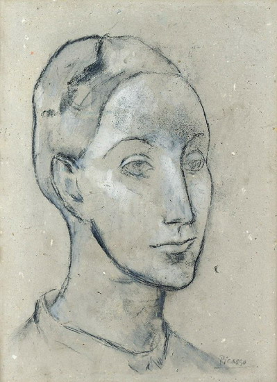 Pablo Picasso. Head of a Woman, 1901