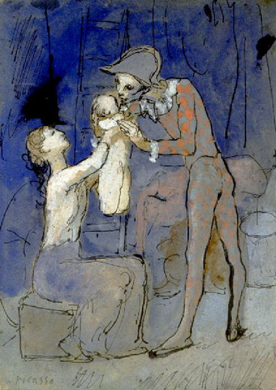 Pablo Picasso. Harlequin Family, 1905