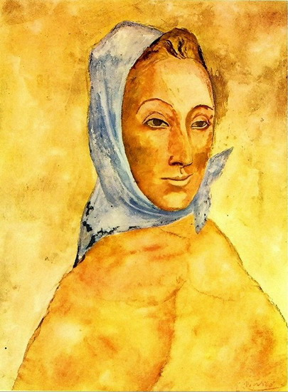 Pablo Picasso. Portrait of Fernande Olivier headscarf, 1906