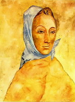 Pablo Picasso. Portrait of Fernande Olivier headscarf