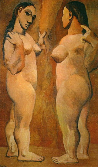 Pablo Picasso. Two naked women, 1906