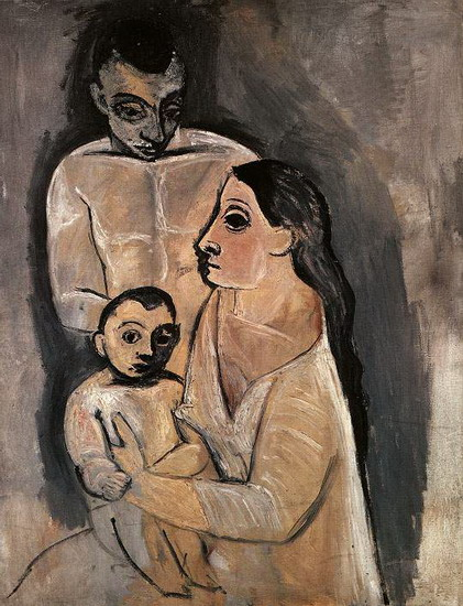 Pablo Picasso. Man, woman and child, 1906