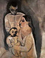 Man, woman and child