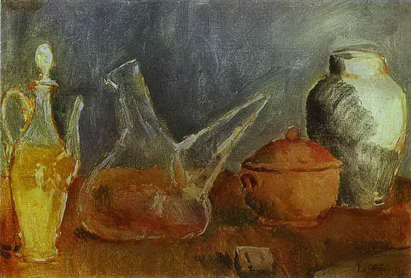 Pablo Picasso. Still life with vases, 1906