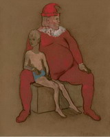 Pablo Picasso. Jester and young acrobate2