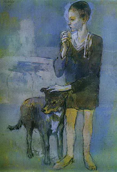 Pablo Picasso. Boy with a Dog, 1905