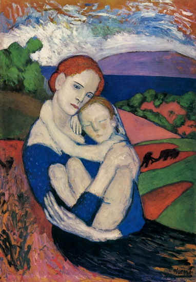 Pablo Picasso. Motherhood (La Maternité), 1901