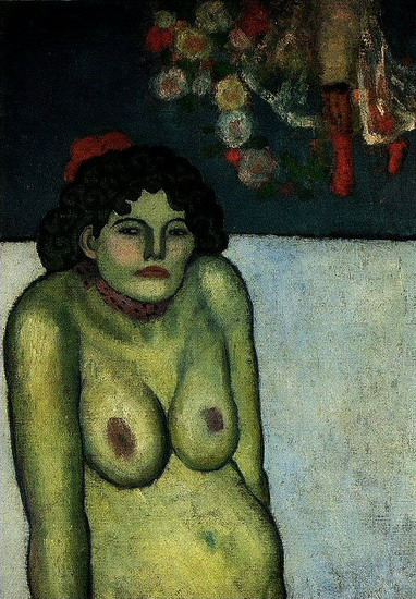 Pablo Picasso. Naked woman sitting, 1899