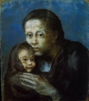 Mother and child in kerchief